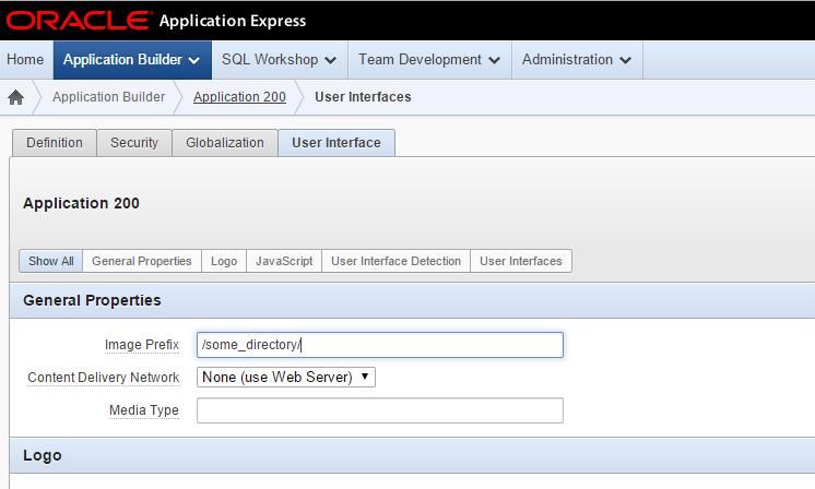 Oracle APEX image prefix